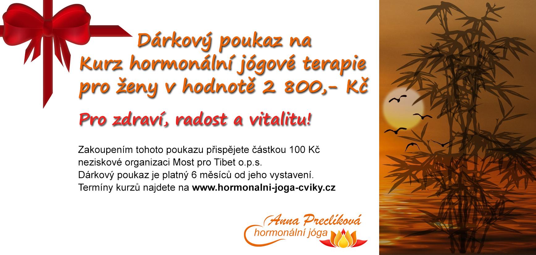 Dárkový poukaz hormonální jógy